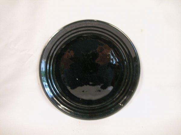 """9: Bauer Pottery Ringware 9 1/2"""" black dinner plate"""
