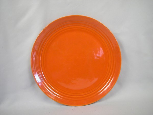 """11: Bauer Pottery Ringware 15"""" red chop plate"""