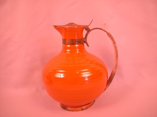 13: Bauer Pottery red carafe