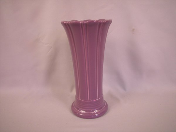 "21: Fiesta Post 86 Lilac 10"" vase"
