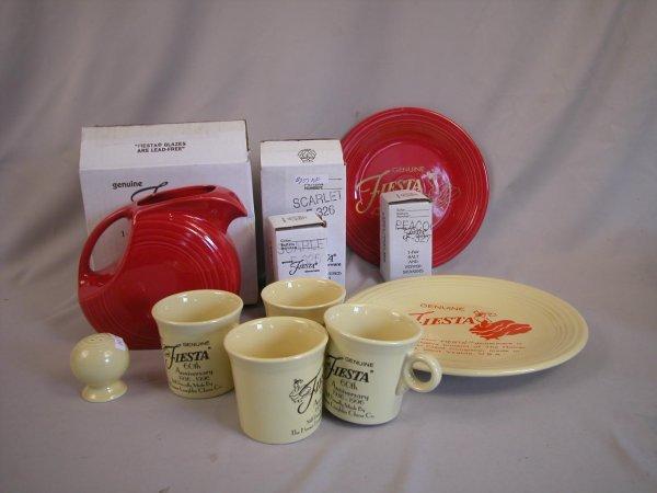 10: Post 86 Fiesta group - Scarlet - disk water pitcher