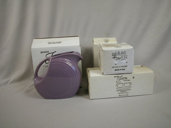 18: Post 86 Fiesta group - Lilac - disk water pitcher;