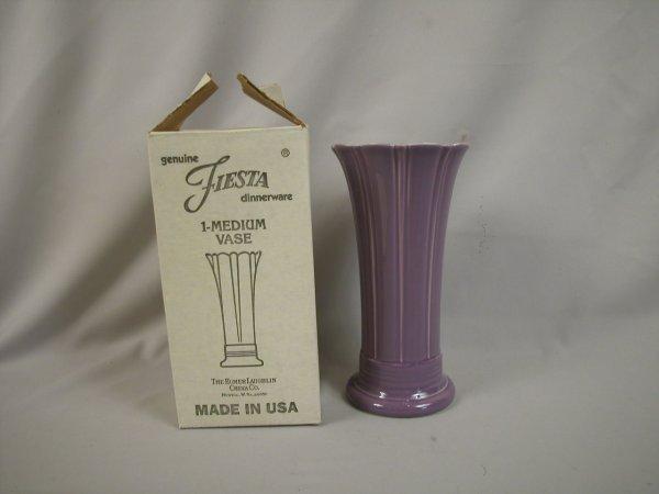 "20: Post 86 Fiesta Lilac 10"" vase, NIB"