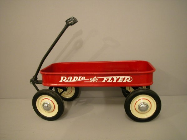 1258: 1950 Radio Flyer red coaster wagon, fully restore