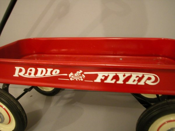 1258: 1950 Radio Flyer red coaster wagon, fully restore - 2