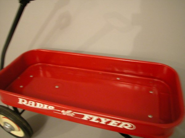 1258: 1950 Radio Flyer red coaster wagon, fully restore - 3