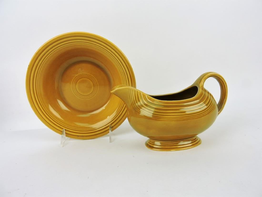 Fiesta Ironstone Antique Gold sauce
