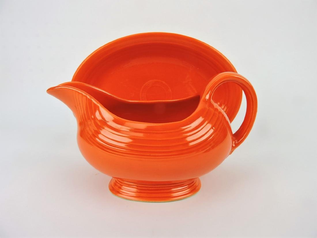 Fiesta sauce boat, red with red