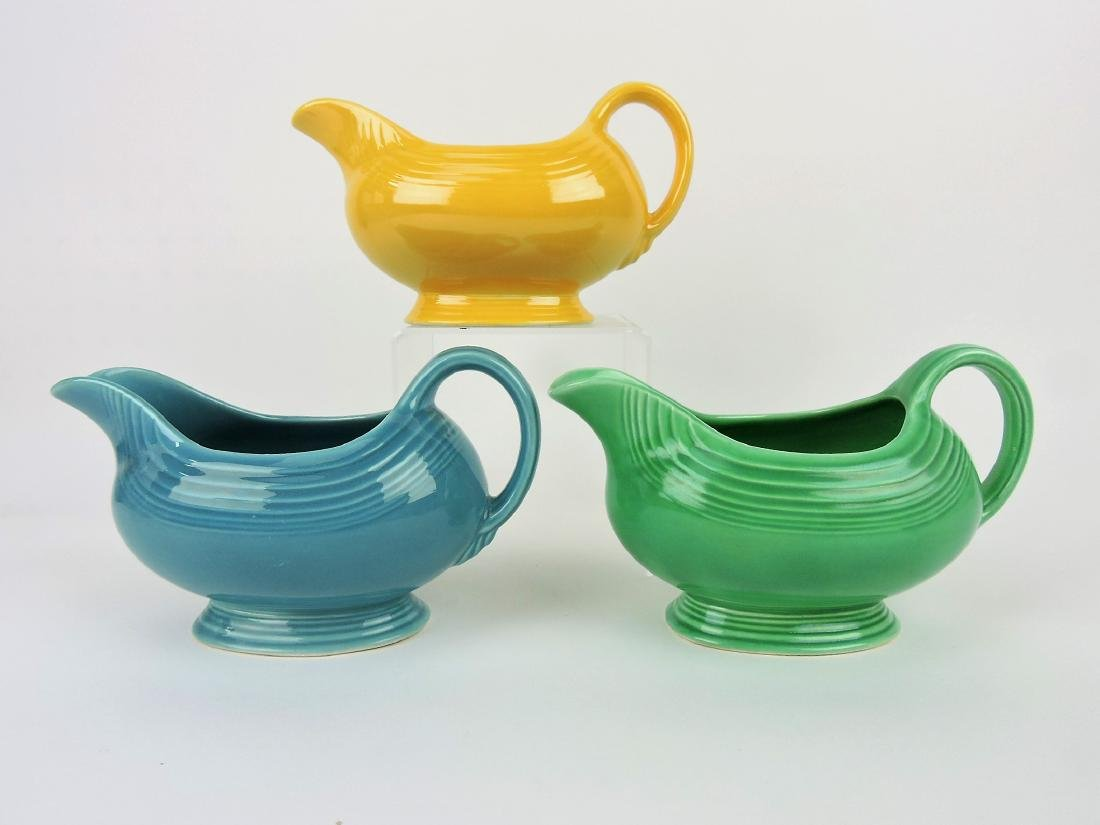Fiesta sauce boat group, turquoise,