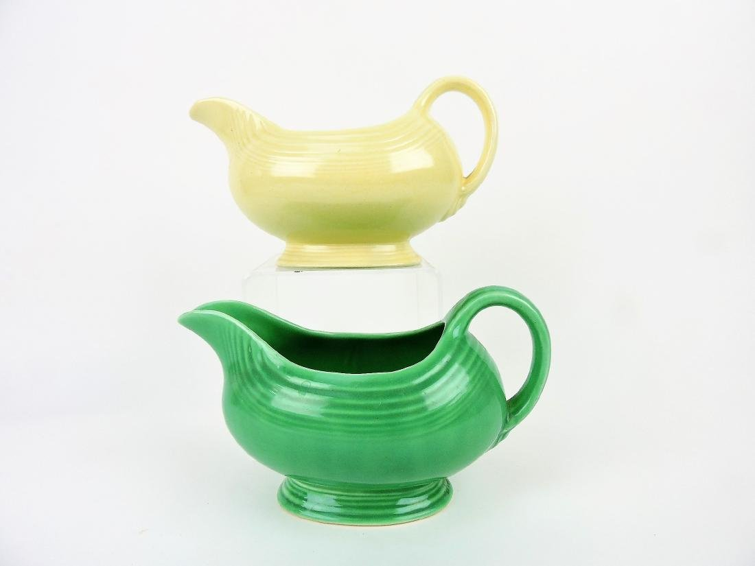 Fiesta sauce boat group, green and