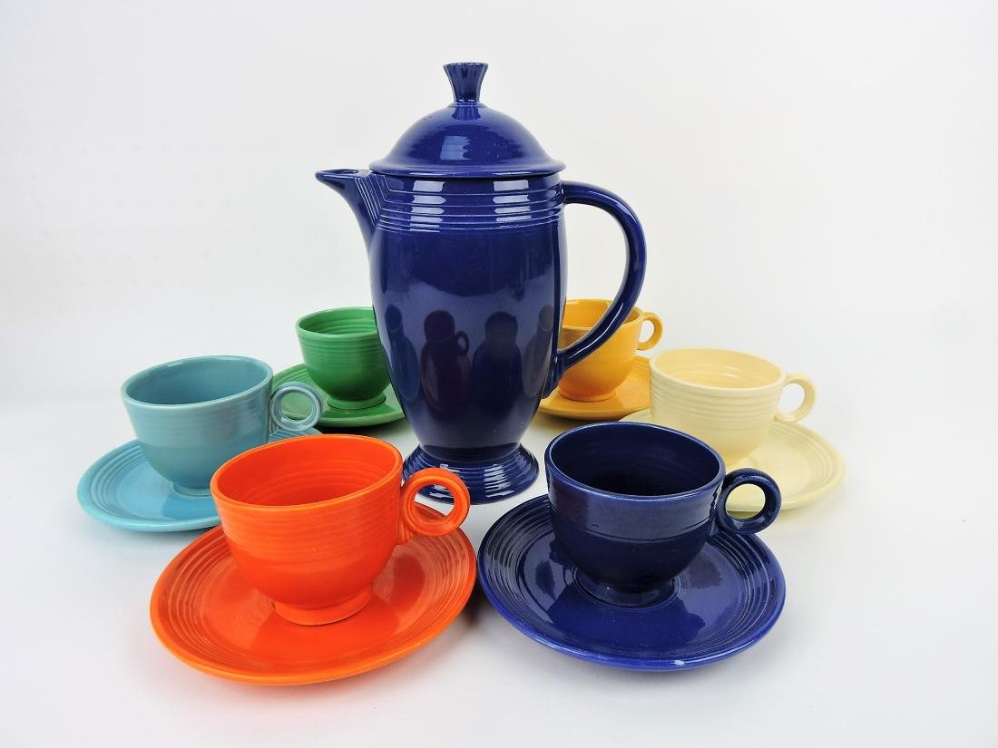 Fiesta coffee service, cobalt coffee pot