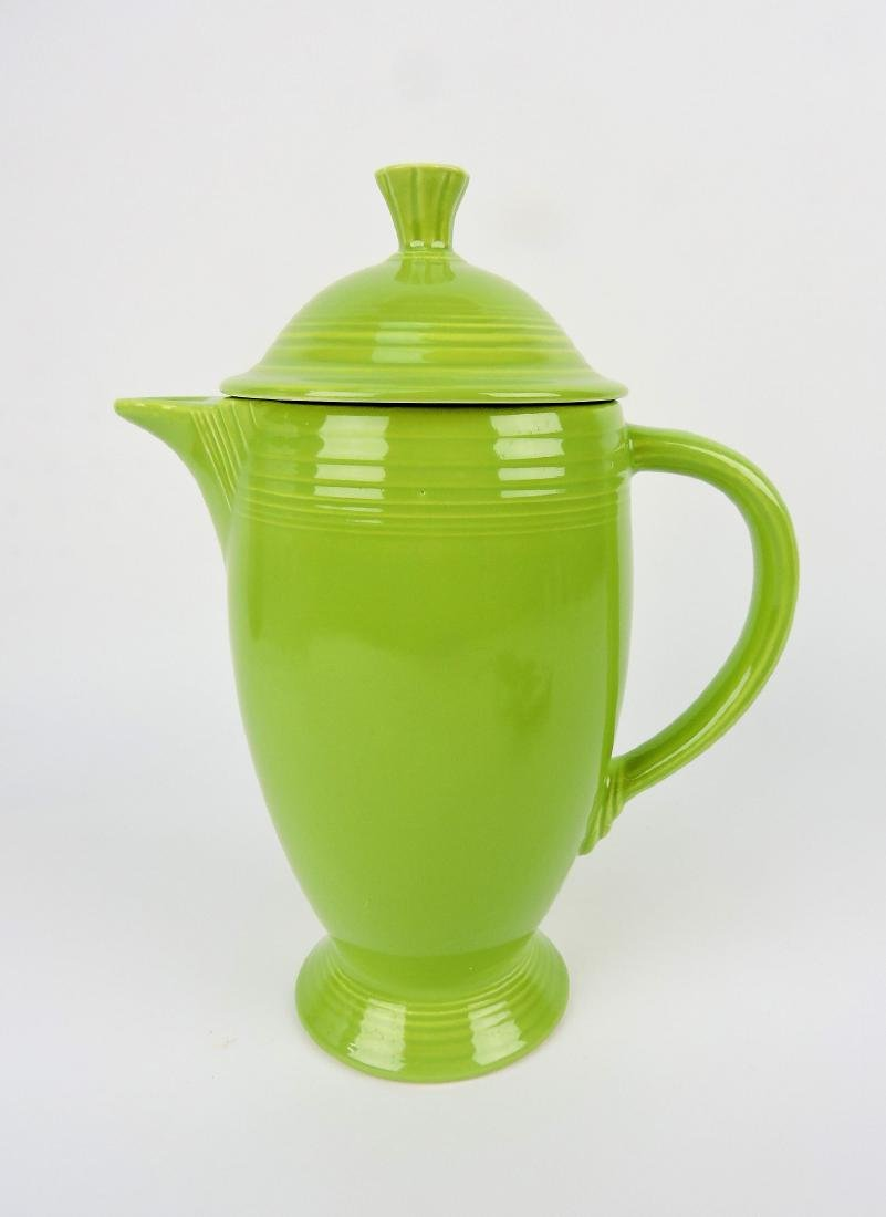 Fiesta coffee pot, chartreuse, very minor