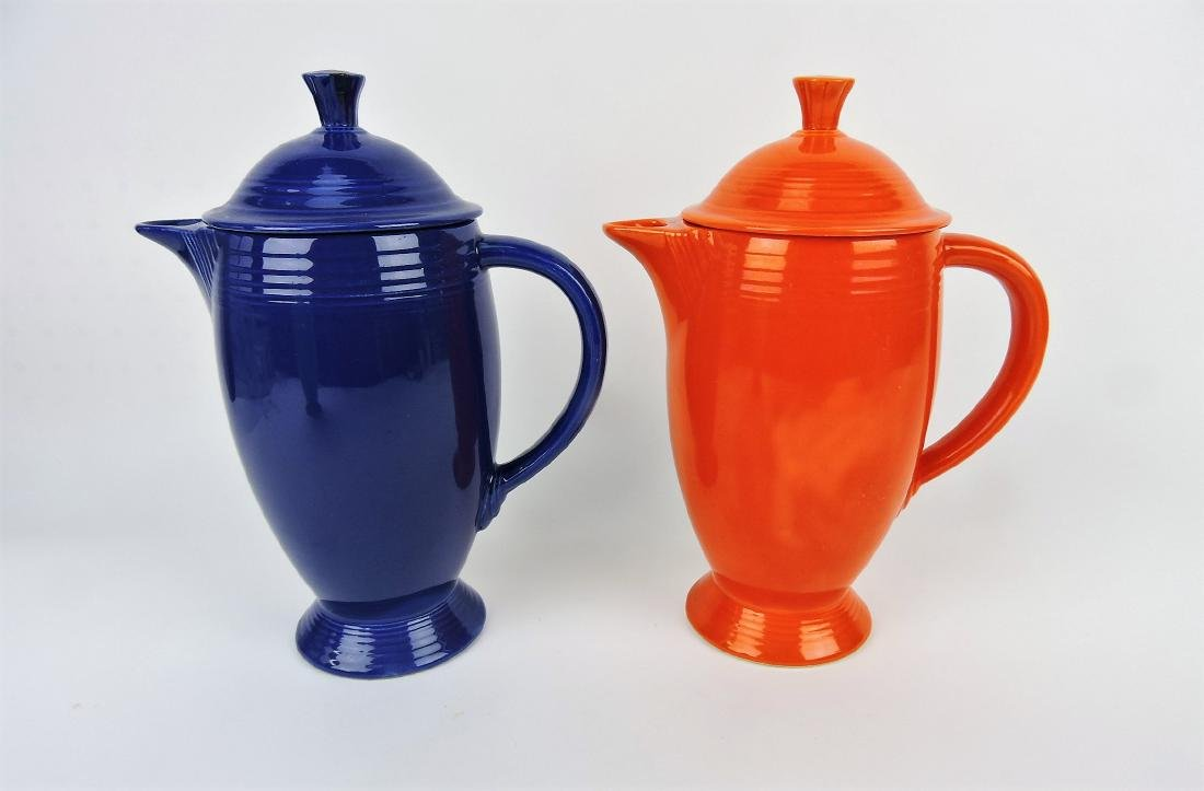 Fiesta coffee pot group, red and