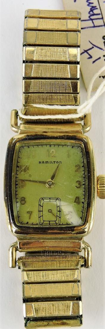 Hamilton rectangular wristwatch,