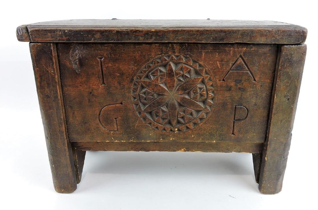 Chippendale carved and painted