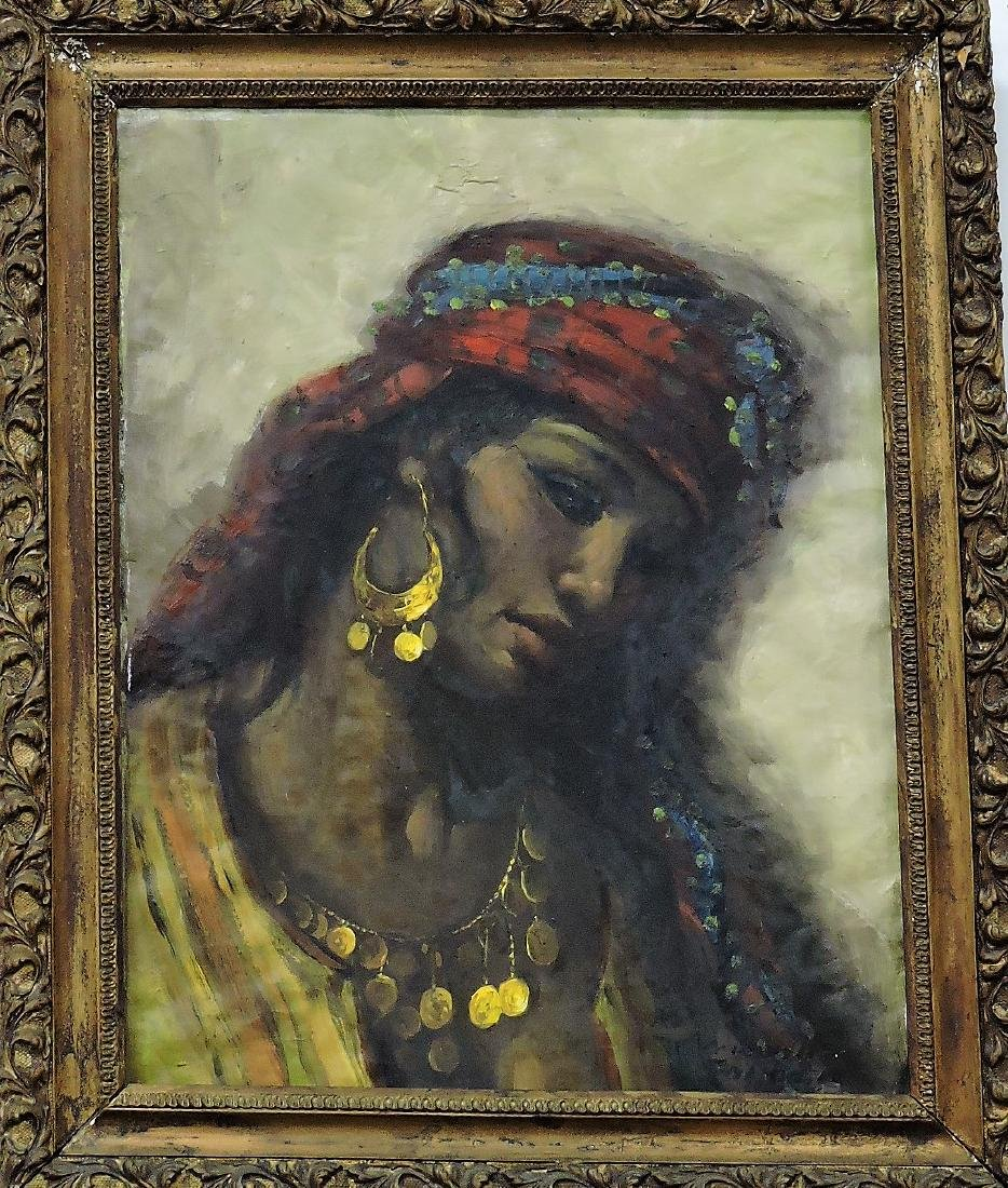 Oil on canvas of African woman