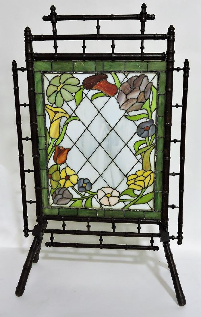 Aesthetic Movement stained leaded
