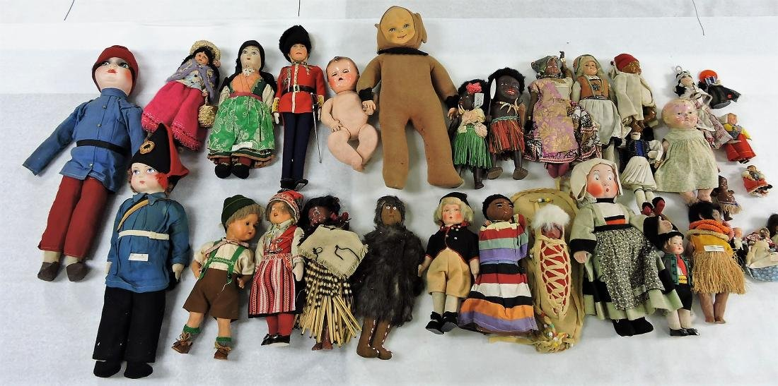 1930's Dolls of the World lot of