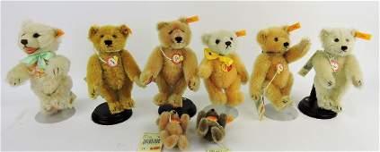 Steiff lot of 9 Historic Miniatures;