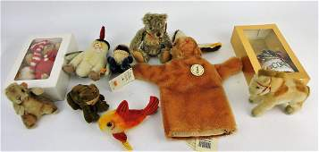 Steiff lot of 10 animals, some early;