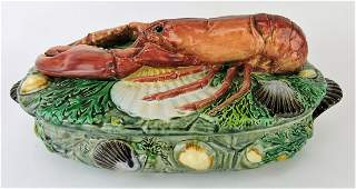 Minton rare majolica lobster tureen,