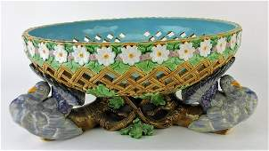 Minton majolica reticulated table