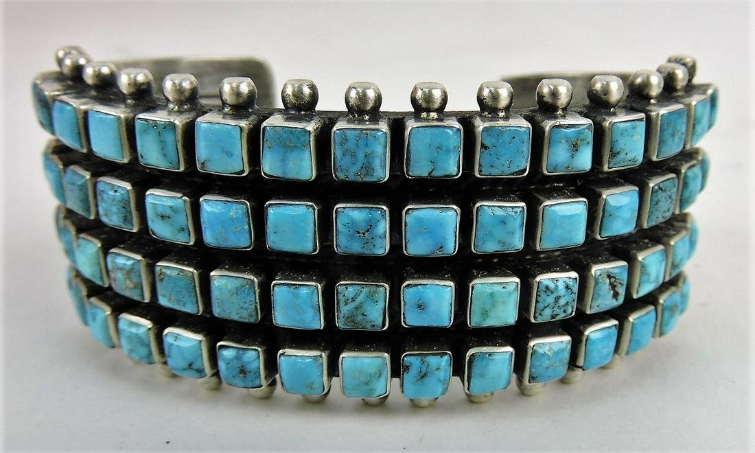 Sterling silver and turquoise Indian