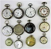 Pocket watch lot of 11 and one