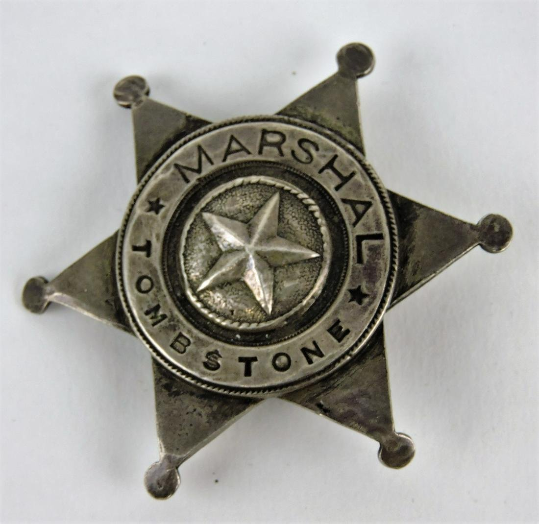 Coin silver Marshall Tombstone badge