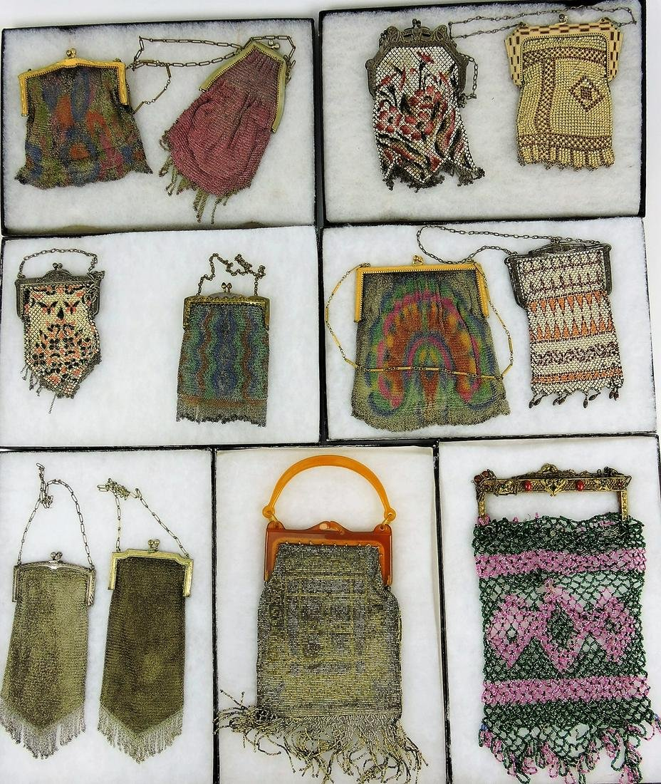 Mesh and beaded purse lot of 12;