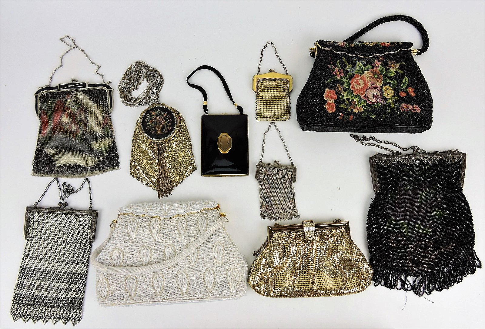Mesh and beaded purse lot of 10;