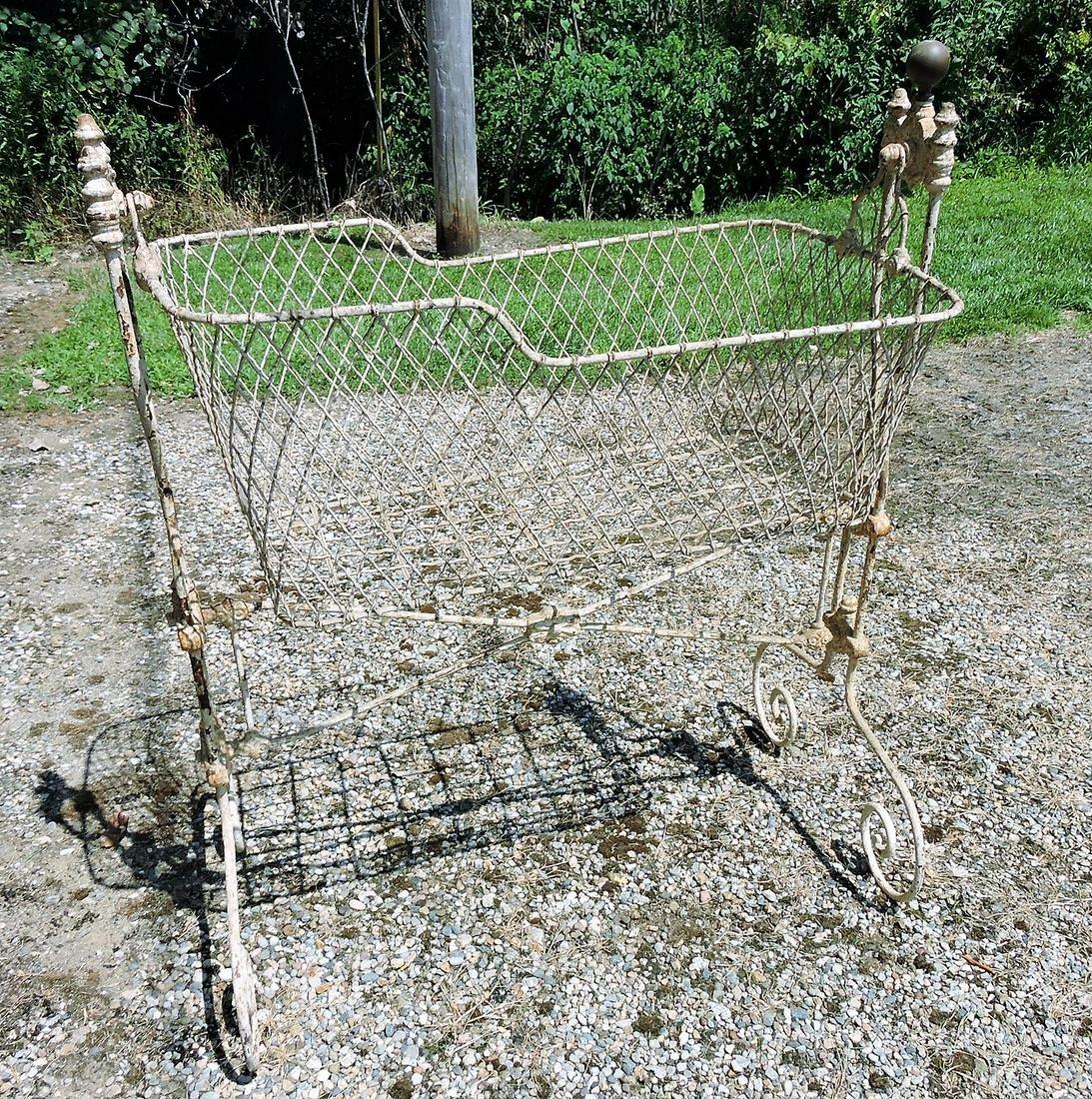 Wrought iron garden bassinet