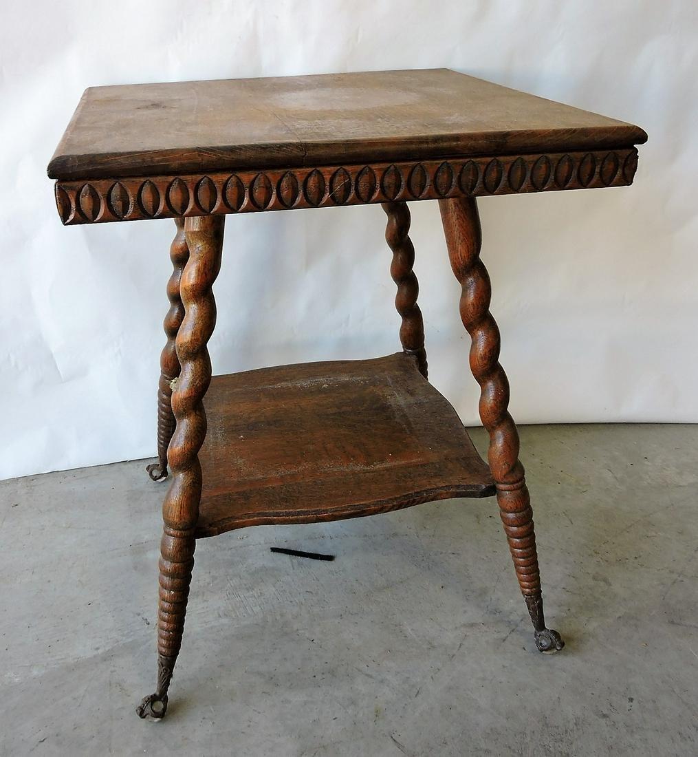 Oak lamp table