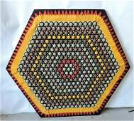 Vintage felt and fabric geometric wall