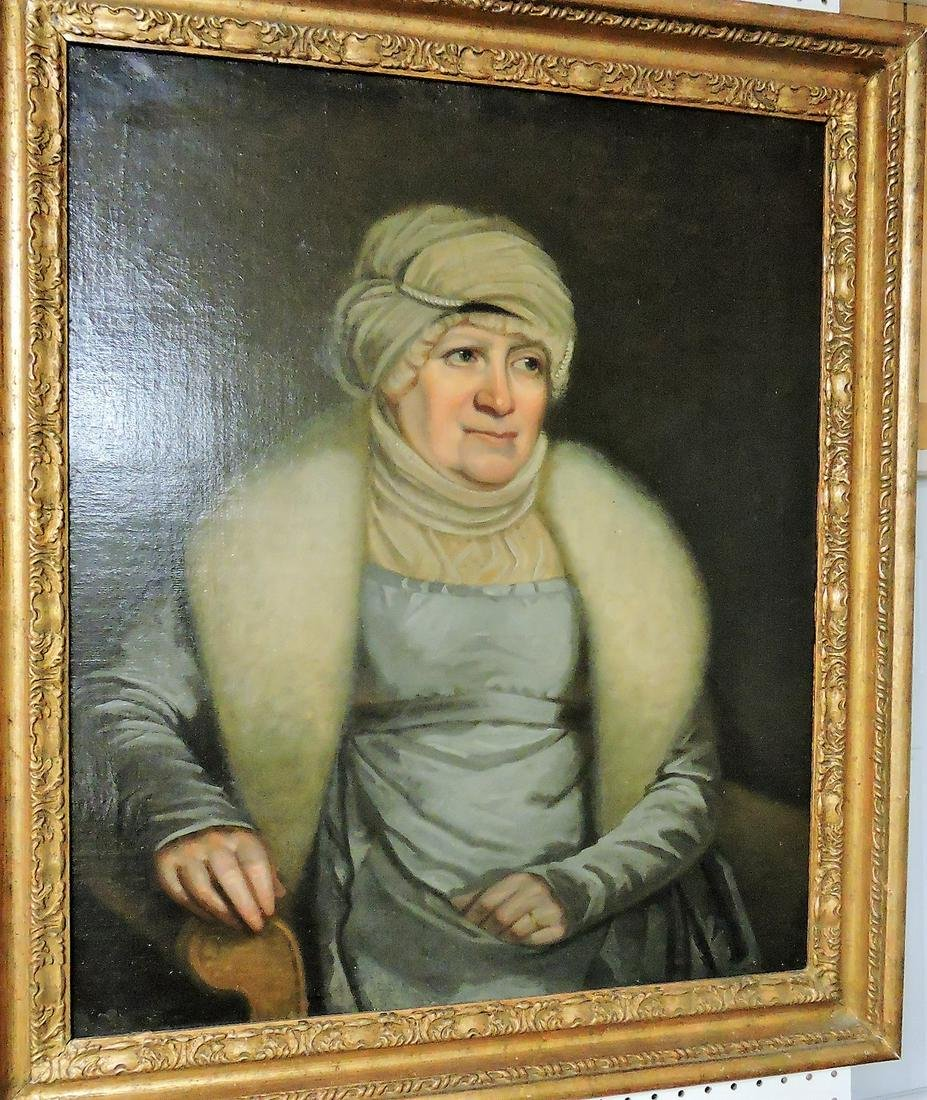 Early oil on canvas portrait of old