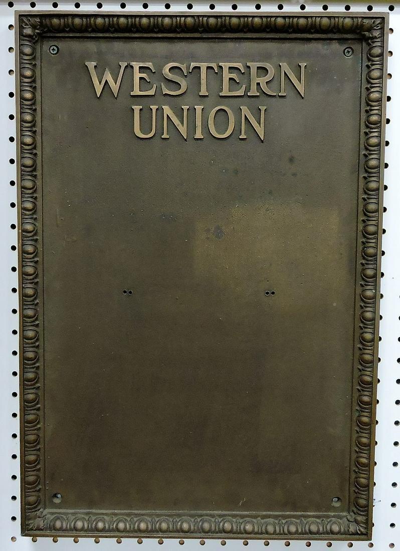 Bronze Western Union building name