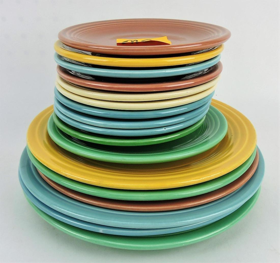 "Fiesta plate group; 3 - 10"", 3 - 9"","