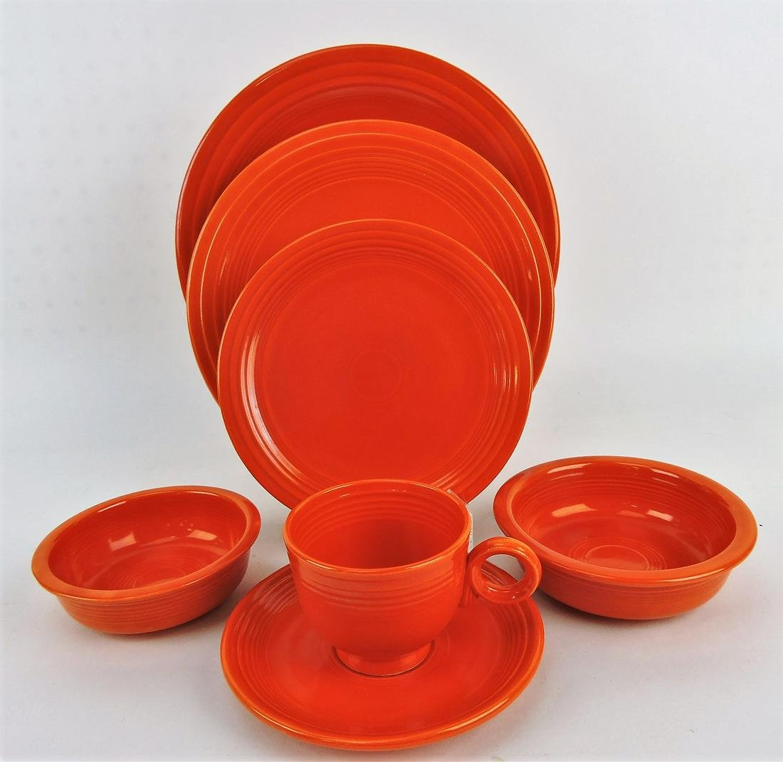 Fiesta set of 4 - 7 piece red place