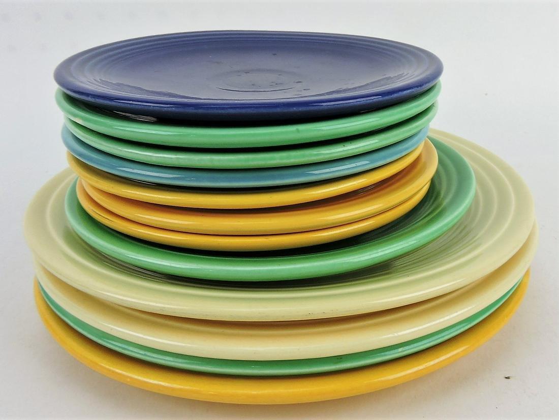 "Fiesta plate group; 4 - 9"", 1 - 7"","