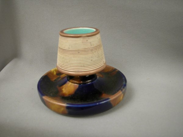 414: Majolica WEDGWOOD cobalt and brown mottled match s