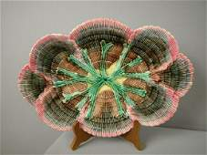 """518: Majolica ETRUSCAN shell and seaweed 14"""" platter wi"""