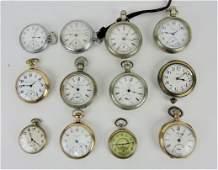 Pocket watch lot of 12 open face