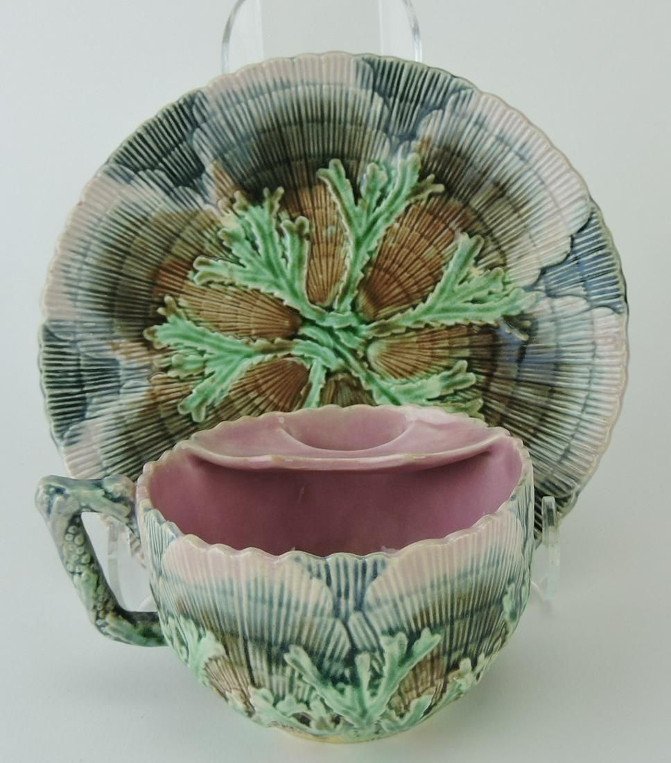 Etruscan majolica shell and