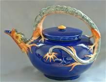 Wedgwood majolica dragon tea kettle