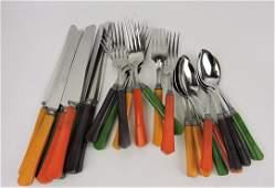 Fiesta go-along bakelite set of flatware,