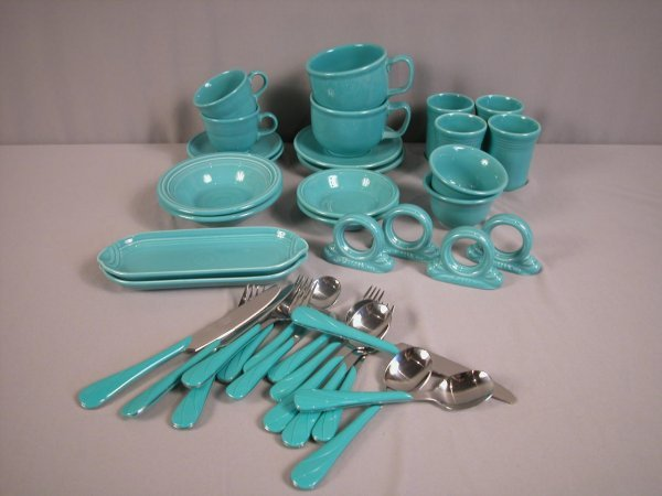 2010: Fiesta Pot 86 turquoise group - 37 pieces - 2 cup