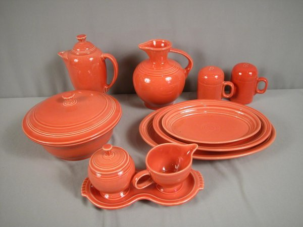 2012: Fiesta Post 86 Persimmon group - 11 pieces - coff