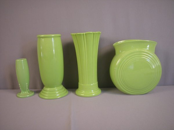 2021: Fiesta Post 86 Chartreuse vase group - 4 pieces -