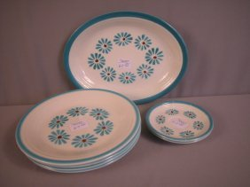 "Fiesta Hawaiian Daisy Platter, 4-10"" Plate, And 2"