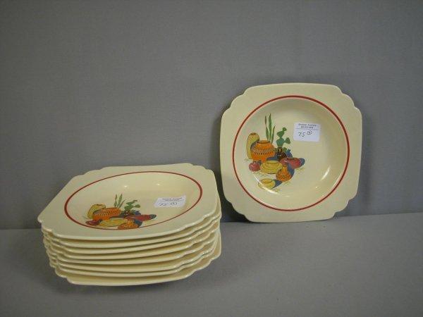2075: Fiesta Riviera Mexicanna lot of 9 deep plates